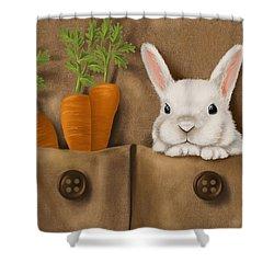 Rabbit Hole Shower Curtain by Veronica Minozzi