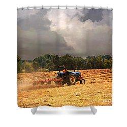 Race Against The Storm Shower Curtain by Jai Johnson