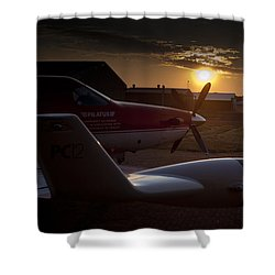 Radar Wing Shower Curtain by Paul Job