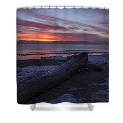 Radiant Rise Shower Curtain by CJ Schmit