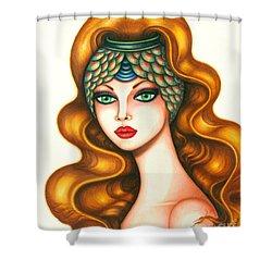 Radiant Shower Curtain by Tara  Shalton