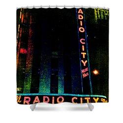 Radio City Grunge Shower Curtain by Joann Vitali