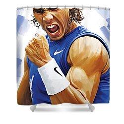 Rafael Nadal Artwork Shower Curtain by Sheraz A