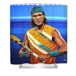 Rafael Nadal Shower Curtain by Paul Meijering