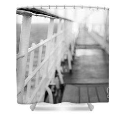 Railings Shower Curtain by Anne Gilbert