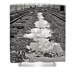 Railroad 5715bw Shower Curtain by Rudy Umans