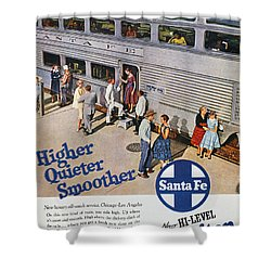Railroad Ad, 1957 Shower Curtain by Granger