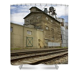 Railway Mill Shower Curtain by Sonya Lang