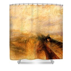 Rain Steam And Speed.  Shower Curtain by J M W Turner