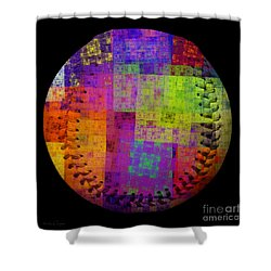 Rainbow Bliss Baseball Square Shower Curtain by Andee Design