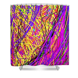 Rainbow Divine Fire Light Shower Curtain by Daina White