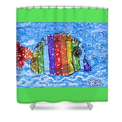Rainbow Fish Shower Curtain by Kathy Marrs Chandler