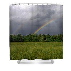Rainbow Shower Curtain by Ivan Slosar