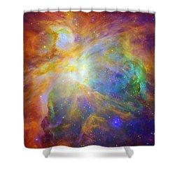 Rainbow Orion Shower Curtain by Georgia Fowler