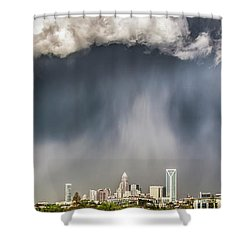 Rainbow Over Charlotte Shower Curtain by Chris Austin