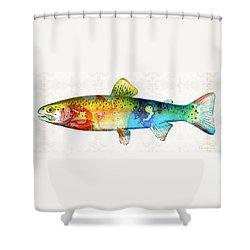 Rainbow Trout Art By Sharon Cummings Shower Curtain by Sharon Cummings