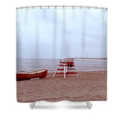 Rainy Day In Cape May Shower Curtain by Bill Cannon