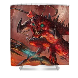 Rakdos Cackler Shower Curtain by Ryan Barger