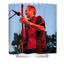 Randy Reis On Bass - The Fabulous Kingpins Shower Curtain by David Patterson