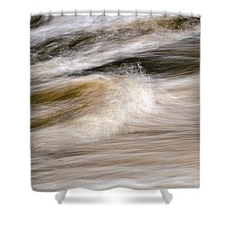 Rapids Shower Curtain by Marty Saccone