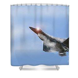 Raptor Vapour Shower Curtain by J Biggadike