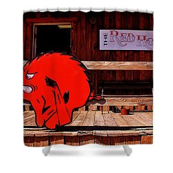 Razorback Country Shower Curtain by Benjamin Yeager
