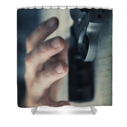 Reaching For A Gun Shower Curtain by Edward Fielding