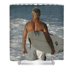 Ready To Go Shower Curtain by Bob Christopher