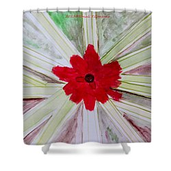 Red Brilliance Shower Curtain by Sonali Gangane
