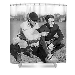 Red Grange And His Coach Shower Curtain by Underwood Archives