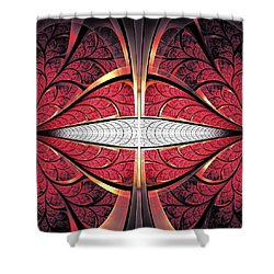 Red Lips Shower Curtain by Anastasiya Malakhova
