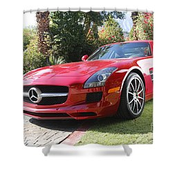 Red Mercedes Benz Shower Curtain by Nina Prommer