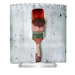 Red Paint Shower Curtain by Joana Kruse