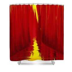 Red Reed River Shower Curtain by Anita Lewis
