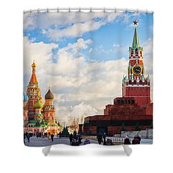Red Square Of Moscow - Featured 3 Shower Curtain by Alexander Senin