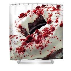 Red Velvet Bundt Cake Shower Curtain by Andee Design