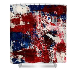 Red White And Blue Shower Curtain by Susan Sadoury