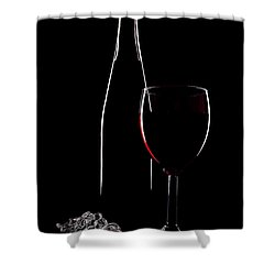 Red Wine Shower Curtain by Marcia Colelli