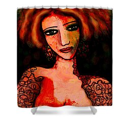 Redhead Shower Curtain by Natalie Holland