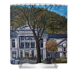 Redpath Museum Shower Curtain by Reb Frost