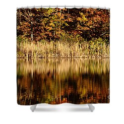 Refections In Water Shower Curtain by Dan Friend