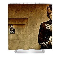 Reflecting On Jimi Hendrix  Shower Curtain by Andrea Kollo