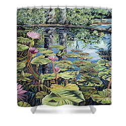 Reflecting Pond Shower Curtain by Danielle  Perry