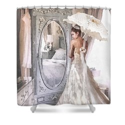 Reflection Shower Curtain by Mo T