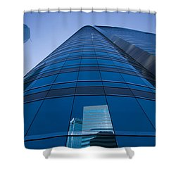 Reflection Of Buildings On A Stock Shower Curtain by Panoramic Images