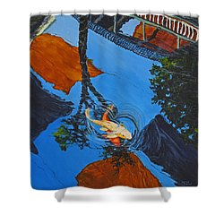 Reflections Of The Wharf Shower Curtain by Darice Machel McGuire