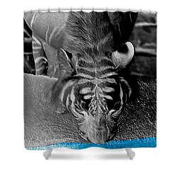 Reflections Of The Wild Negative Shower Curtain by DigiArt Diaries by Vicky B Fuller