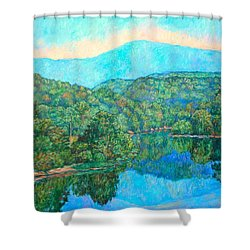 Reflections On The James River Shower Curtain by Kendall Kessler