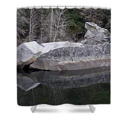 Reflections Shower Curtain by Priya Ghose