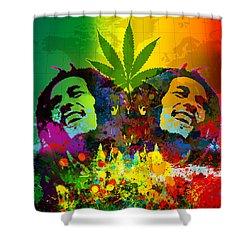 Reggae Pop Shower Curtain by Gary Grayson
